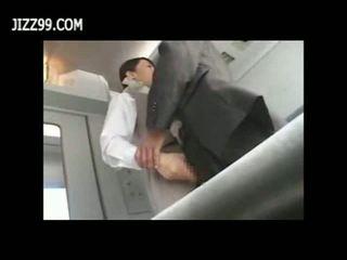Szexi vonat pincérnő szar -val passenger