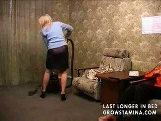 Madura amateur sexo después limpiando
