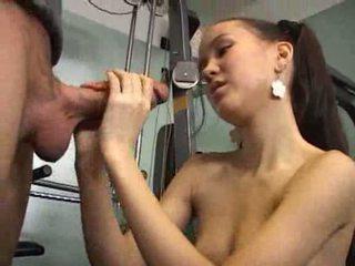 Amai Liu handjob at gym Video