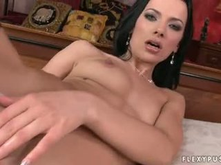 hardcore sex, she play with her cock, babe