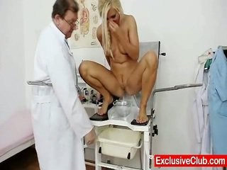 Pretty Blonde Jenna Lovely Pussy Exam Up Close