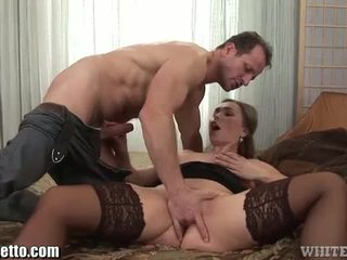 Horny milf fucked and creampied