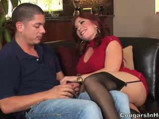 Fiery redhead mom aku wis dhemen jancok asu gets banged by young hunk