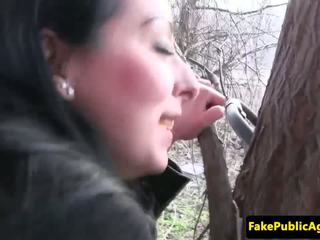 Czech Babe Cumswallows Fake Agents Spu...