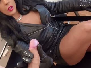 Sexy Dom in Leather Sucks & Hj, Free Armenian Porn Video 48