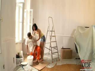 Abbie cat sucks на painter
