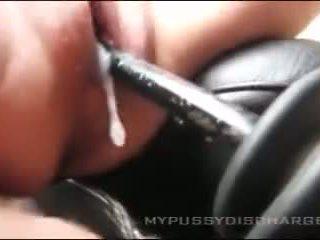 Creamy masturbation 的阴户 在 汽车