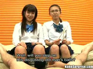 Schoolgirls and a kontol