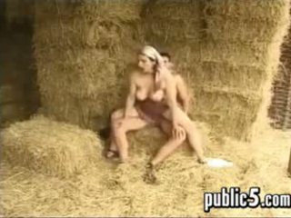 Hairy Woman With Big Tits Fucking At The Farm