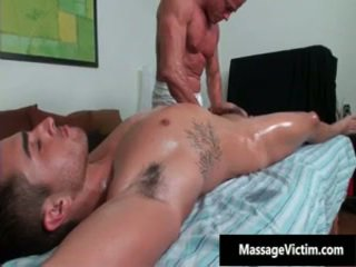 Bryce Gets His Super Tight Wazoo Oiled And Fucked