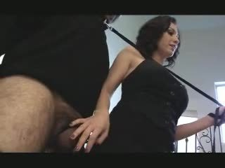 Hubby sucks her hary slaves cum