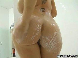hardcore sex, duże cycki, prysznic