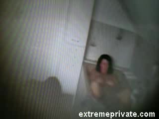 My mom fingering in bath caught on spy cam Video
