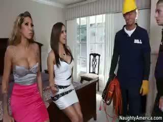 bruneta najhorúcejšie, skupinový sex, kvalita pornstar