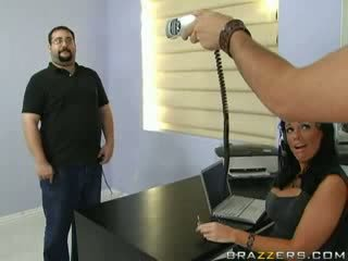 Brazzers - Hot brunette gets titty fucked while.