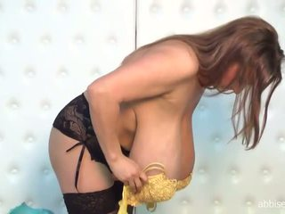 solo girl, huge tits, lingerie