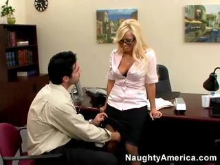 하드 코어 섹스 새로운, 금발, 모든 사무실 섹스