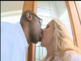 Busty blonde pornstar Julia Ann take a huge black cock up her ass