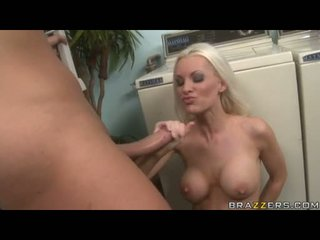 White Hottie BRandi Edwards Takes A Huge Knob And Fills It In Her Warm Mouth