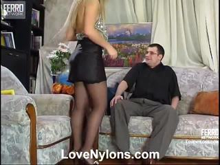 Maria And Monty Outstanding Stockings Video