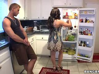 jāšanās, virtuve, horny mom