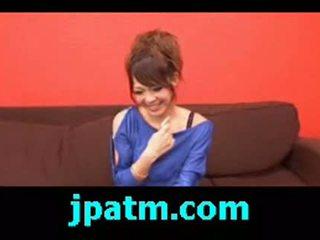 Rukia mochizuki gets her pussy lips spread to show off her p