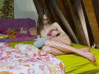 Perempuan slender gadis teasing