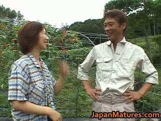 Chisato Shouda Asian mature chick gets