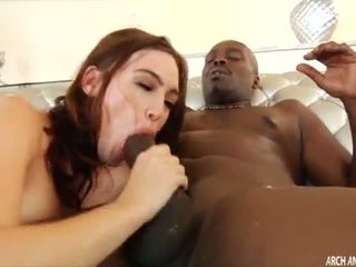 Babe pounded in the ass by a huge black cock