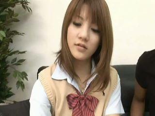 Risa tsukinoasian modelka je a príťažlivé školáčka