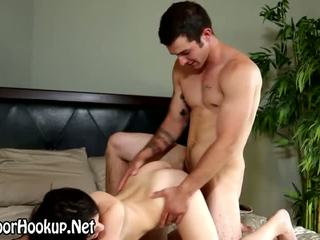 Sucked muscly stud rams pussy