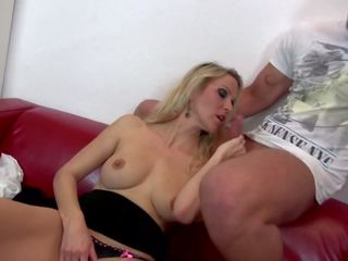 Taboo Sex with Blond Mom and Not Her Son, Porn 68