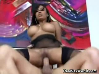 Busty Ebony Drilled