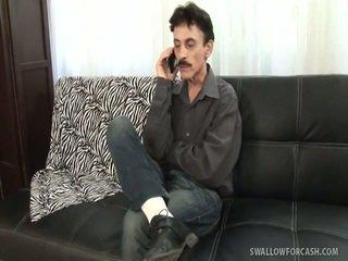si rambut cokelat, hardcore sex, meniup pekerjaan