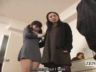 Subtitle cfnm japonsko šolarka in milf ulov peeper