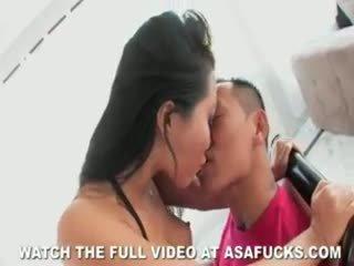 এশিয়ান asa akira fucks!