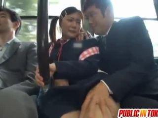 Cenzúrované japonské autobus trio