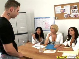 Francesca félénk, brianna és egy male modell