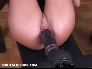 big, girl, dildo