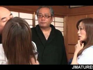 giapponese, sesso di gruppo, nonna